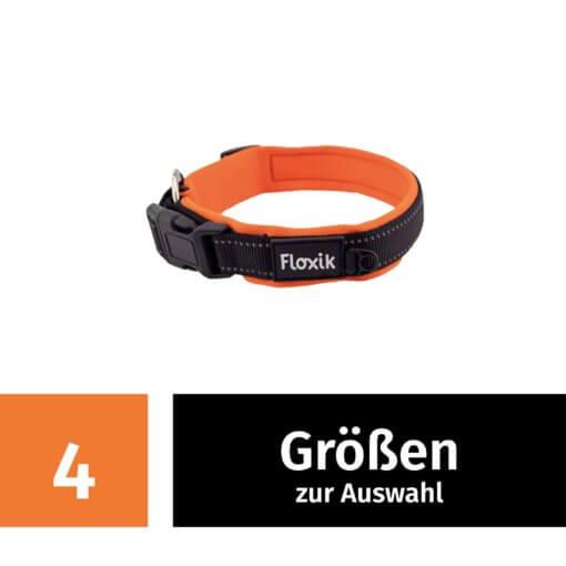 Floxik Hundehalsband in 4 Größen - Neopren und Verstellbar
